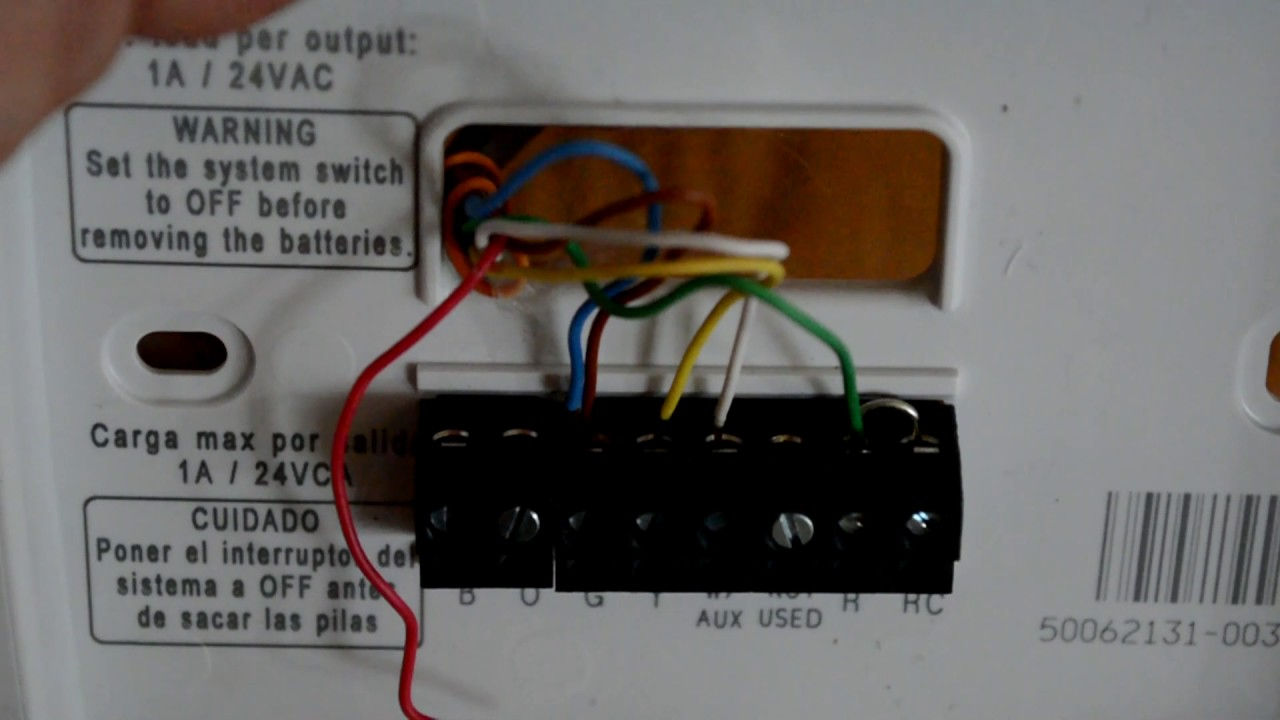 Honeywell Thermostat    Wiring      Bruin Blog