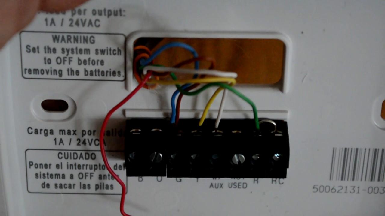 honeywell thermostat wiring in rv