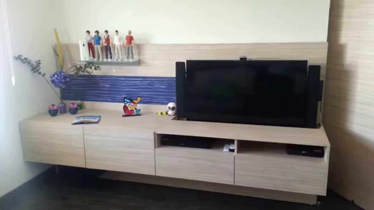 Mueble de tv el ctrico carpintecno youtube - Mueble ocultar tv ...