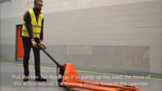 How to Use a BT Pro Lifter Hand Pallet Truck