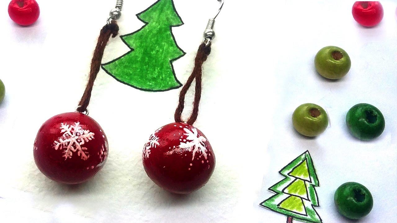 Polymer Clay Christmas Earrings.Easy Earring Tutorial Christmas Balls Polymer Clay
