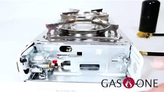 GAS ONE GS-2000 Dual Fuel Portable Propane & Butane Double Stove