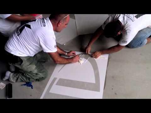 HOW-TO Concrete Polishing w/ Logo Application (Start to Finish)