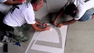 HOW-TO Concrete Polishing w/ Logo Application (Start to Finish)