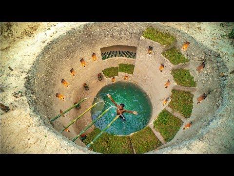 Build Most Amazing Secret Ancient Underground Deep Pool With Secret Underground House