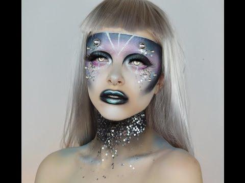81e4606a476 MAC SPACE SQUAD | Alien Halloween Tutorial | Colour Creep - YouTube
