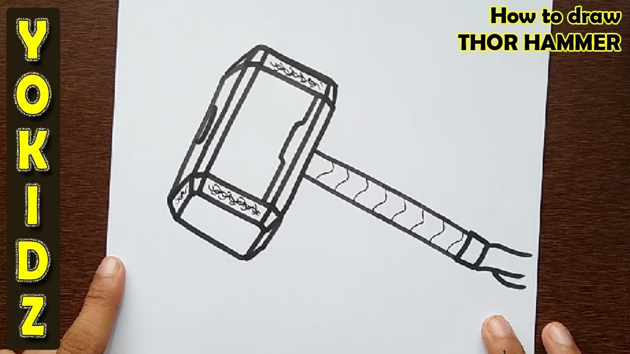 How To Draw Thor Stormbreaker Easy Youtube