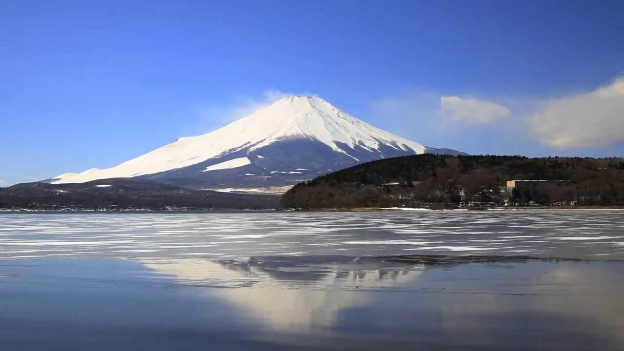 【富士山冬景】 山中湖北岸 - YouTube