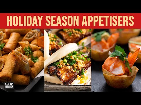 Holiday Season Appetisers...spring rolls, bao & more! | Marion's Kitchen Classics