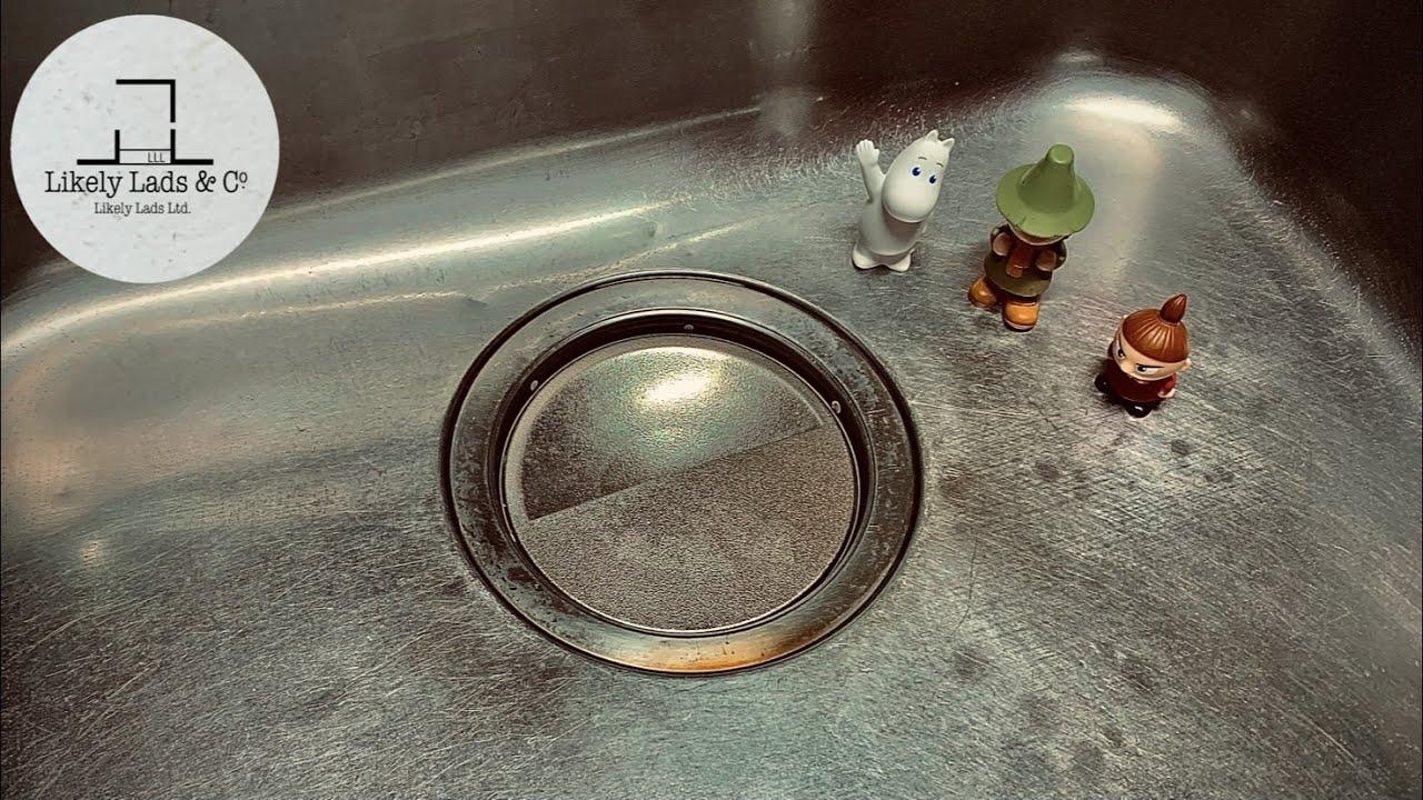 キッチンのシンクを掃除して磨いて鏡面仕上げ Restore Stainless Steel Sink | Kitchen Sink Restoration ASMR