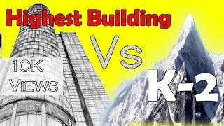 Tallest Buildings VS K-2 Second Highest Peak in the world