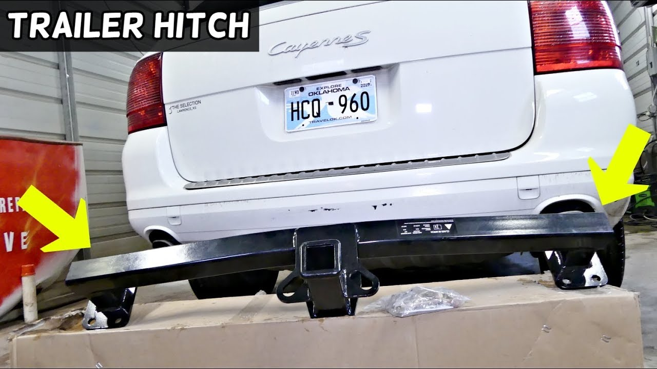 How To Install Trailer Hitch On Porsche Cayenne Youtube