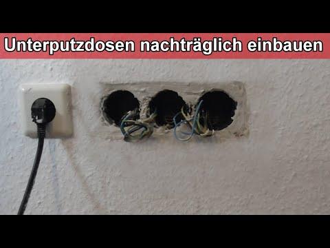 UP Dosen einsetzen - Gerätedosen eingipsen – Schalterdosen einbauen - Unterputzdose stemmen / setzen