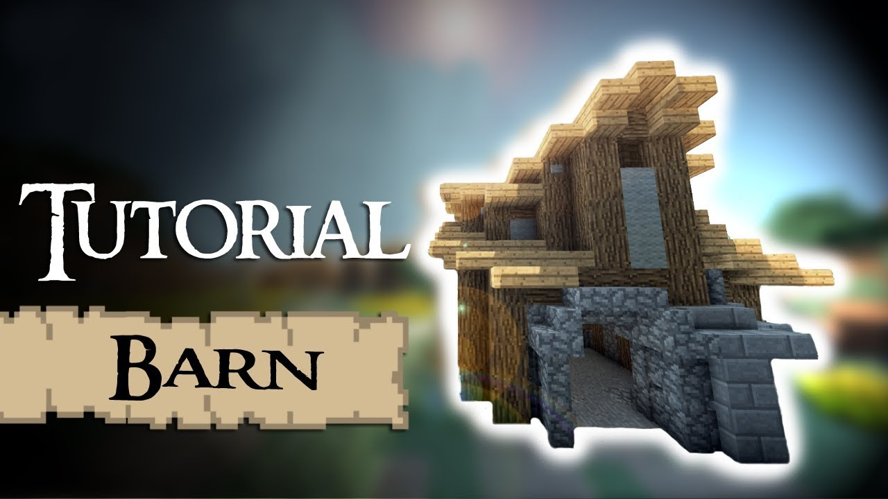 minecraft tutorial medieval barn warehouse   youtube