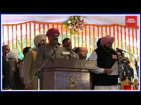 Amarinder Singh Takes Oath As Chief Minister Of Punjab - Live