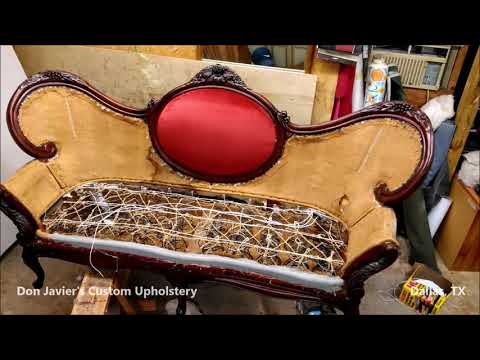 Antique Victorian Couch Upholstery