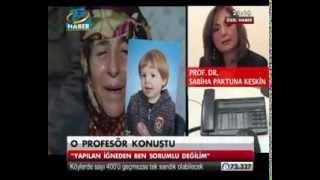 Prof.Dr.Sabiha Paktuna Keskin'in tedavisi sonrası ölen Yiğit Cem Kaba