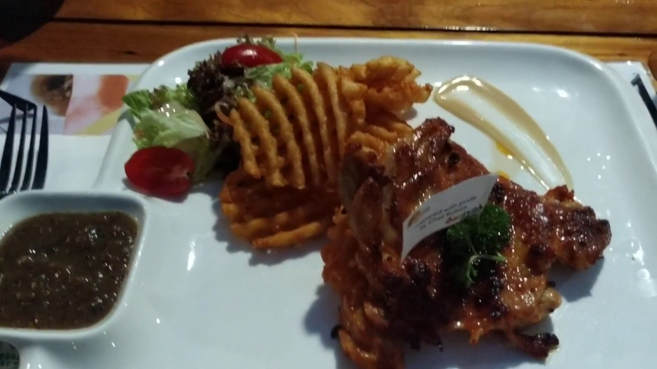 Review of Grilled Chicken Chop at Damai Beach Resort | Borneo Malaysia