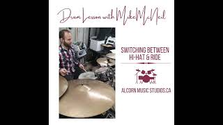 Mike McNeil - Switching Between The Hi-Hat and Ride