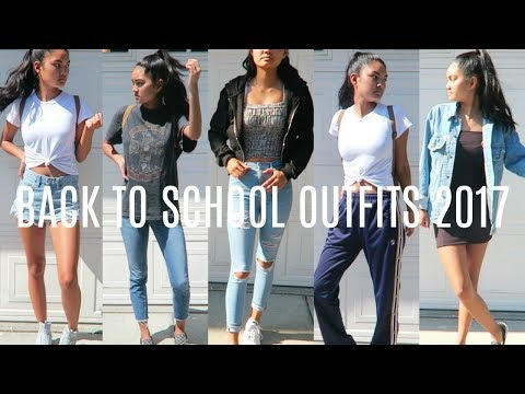 6 Back To School Outfit Ideas 2017 2018 Virtuallykobe Youtube