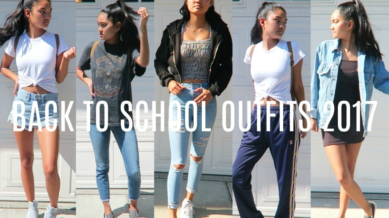 6 BACK TO SCHOOL OUTFIT IDEAS 2017   2018 | virtuallykobe   YouTube