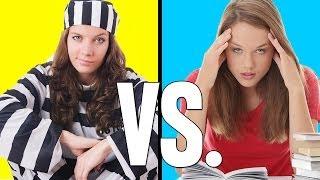 Repeat youtube video Prison Vs. School