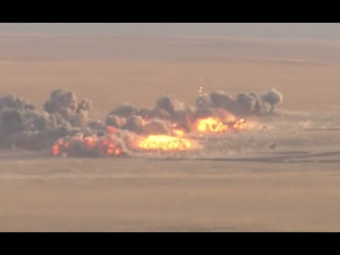 RAW: Putin watches Russian army bomb the hell out of a military polygon