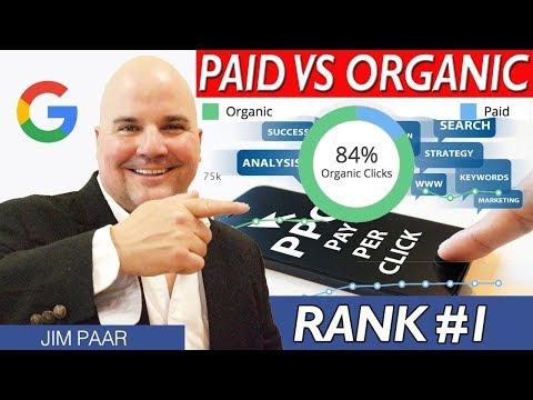 Organic Ranking vs Pay Per Click 2018 - Rank #1 on Google Organic