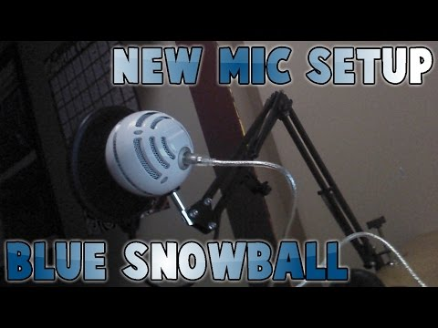 New Mic Setup Unboxing and Assembly! Blue Snowball Microphone!