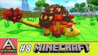 PIXARK - Minecraft Ark #8 - Taming Doedicurus - Thuần Hóa Khủng Long Doedicurus