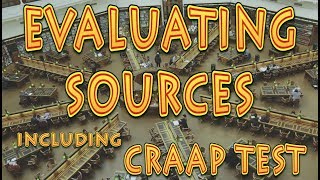 Evaluating sources and the CRAAP test