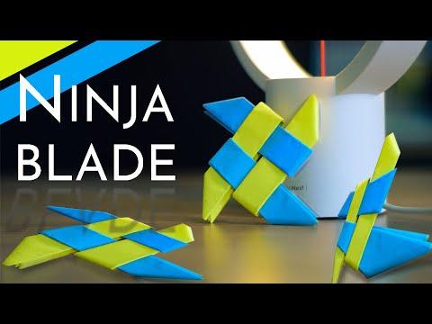 How To Make Origami Ninja Star | IMPROVED Sharingan | Origami Tutorials | Naman Origami World thumbnail