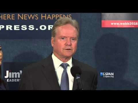 Jim Webb Withdraws (C-SPAN)