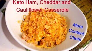 Keto Ham and Cheddar Cauliflower Casserole Recipe