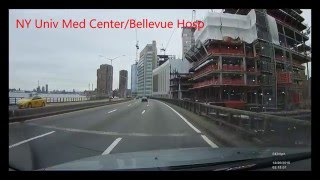 FDR Drive New York, Harlem to Battery, 12/26/2015 Dash-Cam Video