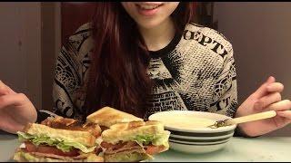 ASMR- Eating BLT  Chicken Soup
