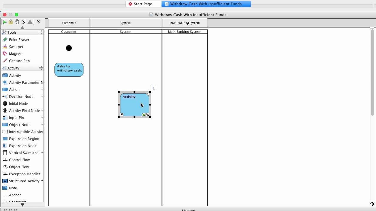 Tutorial  Infost 340 Activity Diagram For Use Case Scenario - Visual Paradigm