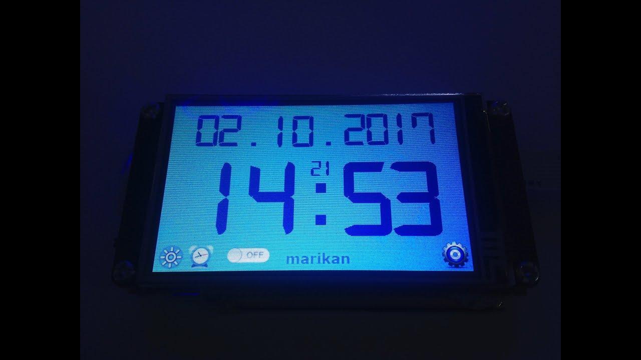 Nextion TFT Touch Display Digital Clock V2 0 (Alarm added)