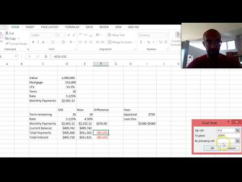 Should I Refinance My Home Mortgage? (Excel Walk-through + DIY Example)