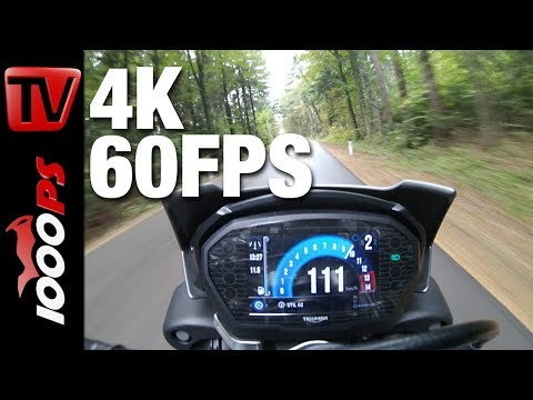 GoPro Hero 6 Test - 4K 60FPS Motorcycle Onboard - Triumph Street Triple RS