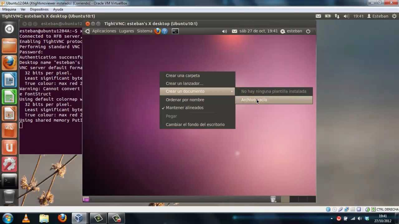 Configuracion de TIGHTVNC en Ubuntu mp4