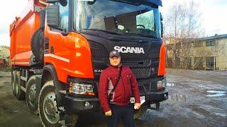 Scania Heavy Tipper G440 в работе  (часть 1)Самосвал