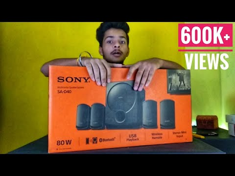 SONY SA- D40 - Unboxing - Review - its review time