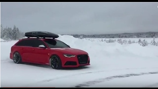 Audi RS6 Snow Drift 😉