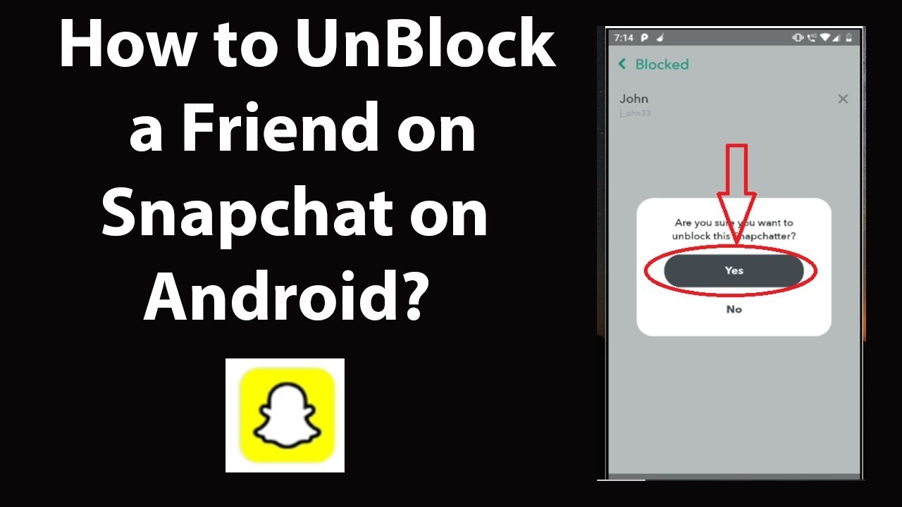 How to UnBlock a Friend on Snapchat on Android? - YouTube