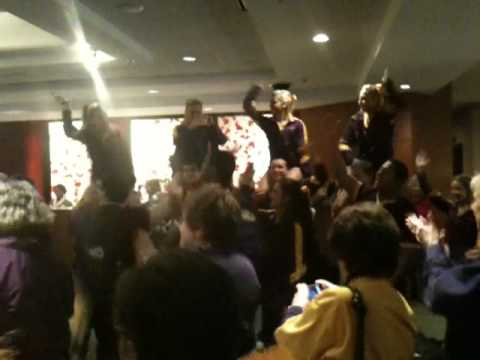 LSU vs Tennessee 2012 SEC Tournament - LSU team sendoff at Doubletree Hotel