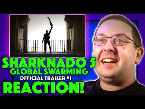 REACTION! Sharknado 5: Global Swarming Trailer #1 - Tara Reid Movie 2017 streaming vf