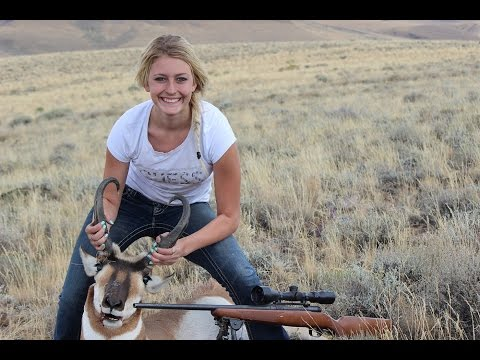 Nevada Pronghorn Antelope Hunt With 15yld Girl Skylar.22-250 And Canon T3i.