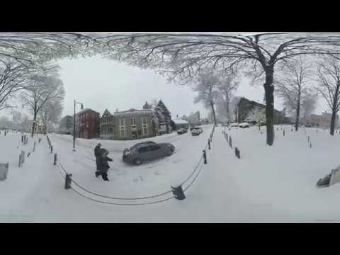 A stroll through Uptown Kingston in the snow