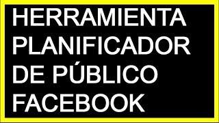 Herramienta de planificador de publico Personalizado en Facebook 2019
